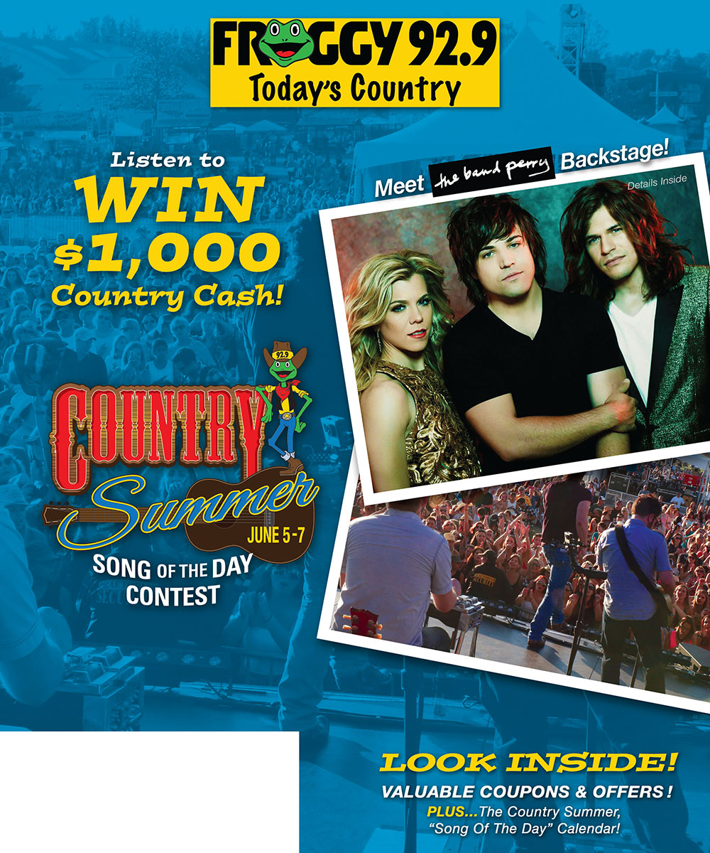 Ad Directory Froggy 92 9 Country Summer Song Of The